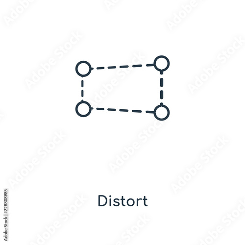 Fotografie, Obraz  distort icon vector