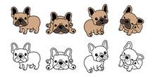 Dog Vector French Bulldog Logo Icon Cartoon Character Illustration Symbol Brown