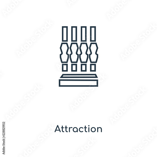 Foto  attraction icon vector