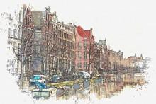 Illustration Or Watercolor Ske...