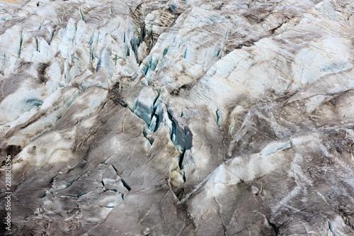 Spoed Foto op Canvas Gletsjers Cracks in the Small Azau glacier on Mount Elbrus.