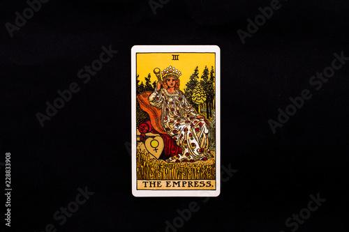 Carta da parati An individual major arcana tarot card isolated on black background