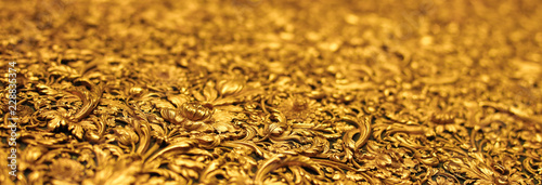 Valokuva  Website banner of golden molding antique