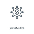 crowdfunding icon vector