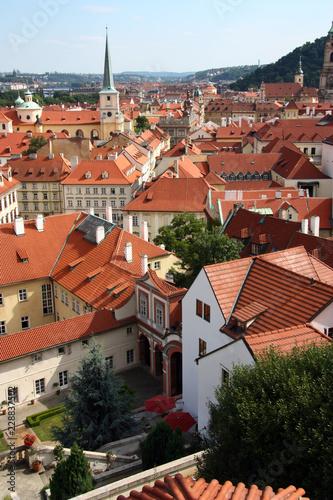 Foto op Plexiglas Praag Cityscape of Prague in Czech, red roofs