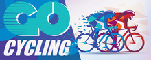 Cycling Race Stylized Background With Motion Color Effects