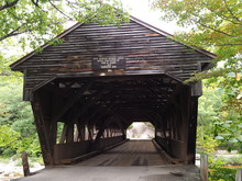 Albany Covered Bridge Von Vorne, New Hampshire