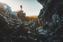 Wanderer Fotografiert Landschaft