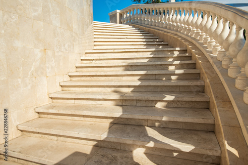 Spoed Foto op Canvas Trappen Marble staircase, steps up