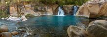 Panorama View On Small Waterfa...