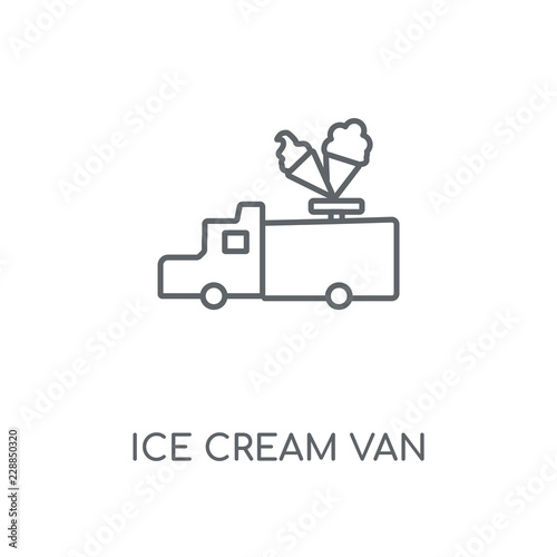 ice cream van icon Canvas Print