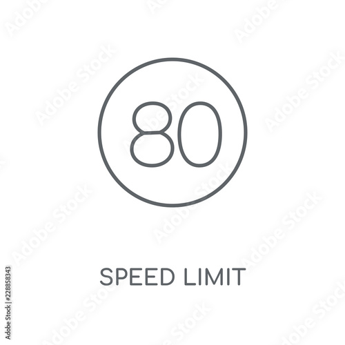 Fotografía  speed limit icon