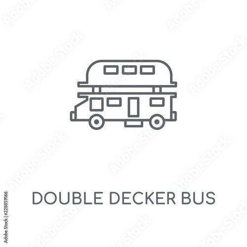 Photo  Double decker bus linear icon