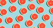 Leinwanddruck Bild - Halved fresh grapefruits on bright color background