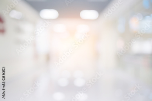Fotografia  abstract blur image background of clinic hospital walkway corridor