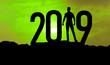 canvas print picture - 2019 ist nah - grün ist die Hoffnung