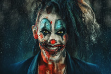 Frightening Punk Clown