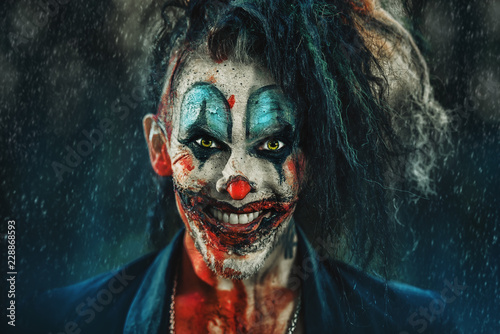 Fotografie, Tablou frightening punk clown