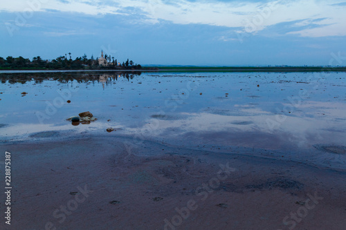 Larnaca salt lake, Cyprus, at dawn