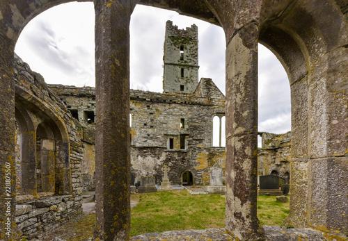 Photo Timoleague Abbey - view through a window, County Corck, Ireland