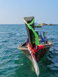 Thai Taxi Boot im Meer, Andaman Sea, Thailand