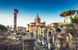 View on the Roman Forum in Rome, Italy. Scenic travel background.