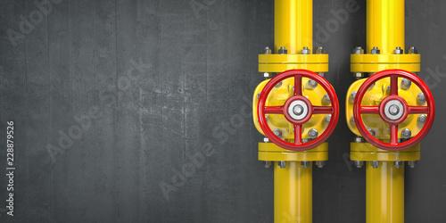 Платно Gas pipeline valve on a wall