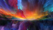canvas print picture Vision of Abstract Landscape