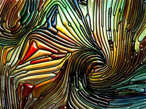 Fotografie, Obraz  Depth of Iridescent Glass
