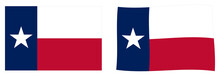 State Of Texas Flag. Simple And Slightly Waving Version.