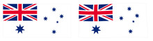 Commonwealth Of Australia Naval Flag Variant (Australian White Ensign). Simple And Slightly Waving Version.
