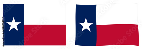 Fotomural State of Texas flag. Simple and slightly waving version.
