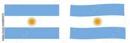 Fotografie, Tablou  Flag of Argentine Republic (Argentina)