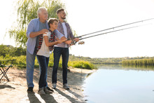Happy Family Fishing Together ...