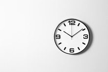 Stylish Clock And Space For Te...