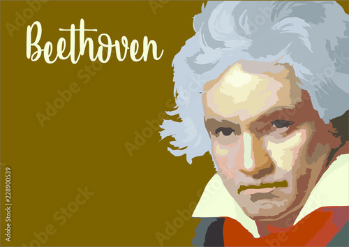 Great composers- Beethoven Canvas Print