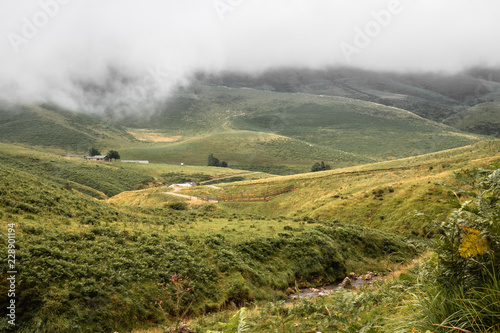 Fotobehang Landschap scenic landscape in Iraty mountains in summertime, basque country, france