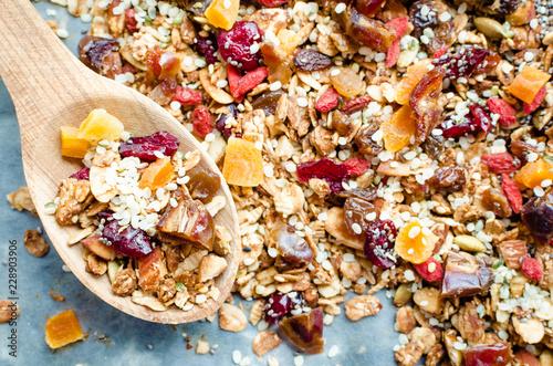 Organic homemade granola