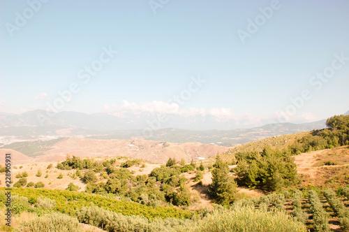 Spoed Foto op Canvas Wit landscape in the mountains