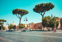 A Typical Landscape Of Rome Wi...
