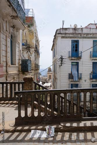 Fényképezés White colonial buildings in the center of Algiers