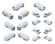 Loaded Cargo Vehicles Isometri...