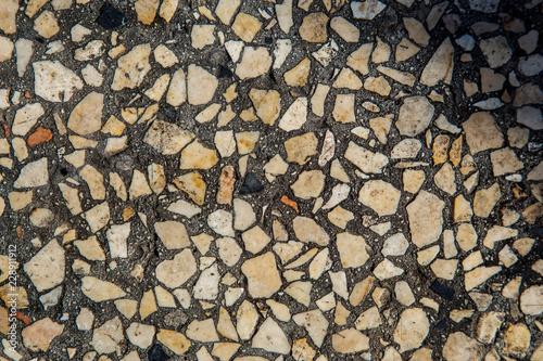 Fotobehang Brandhout textuur wall of large boulders