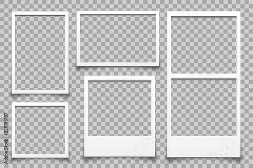 Obraz Empty white photo frame - vector - fototapety do salonu