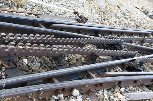 Tuinposter Spoorlijn Zahradbahn Eisenbahngleise