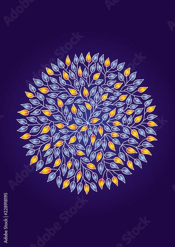 Photo  Mandala of leaves