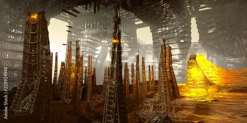 sci-fi city art - 228924948