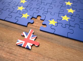 Brexit - Wielka Brytania Puzzle Unii Europejskiej