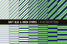 Navy Blue And Green Diagonal A...