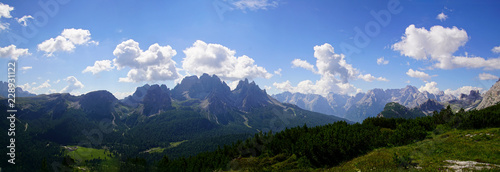 Jagged mountain and deep valley of the Monte piana #228931122